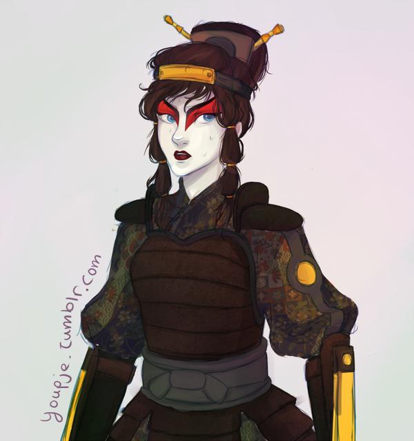 The Last Airbender Avatar Kyoshi: Korra In Kyoshi Warrior Gear By Youpje