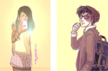 Hipster! Korra and Zuko by Youpje