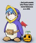 Laharl in prinny costume