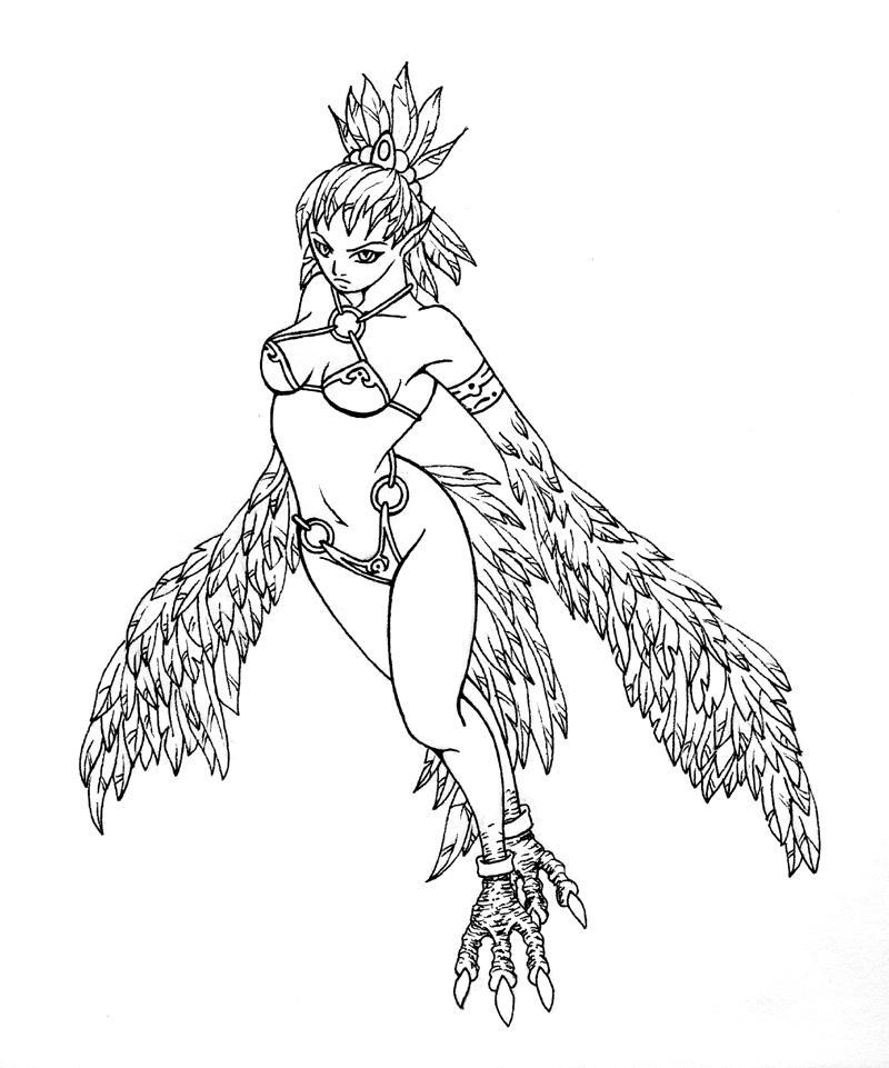 Harpy -Warcraft- by bishie-keeper