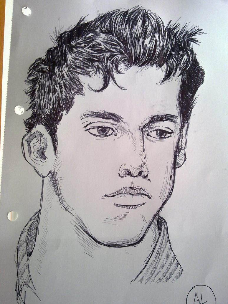 my brother 10 min black pen by LCkreator