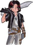 Chibi Me Cosplaying Squall by nmaster64