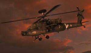 100% pose-able AH-64 Apache
