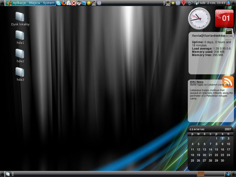 My current Ubuntu Desktop by iluvia
