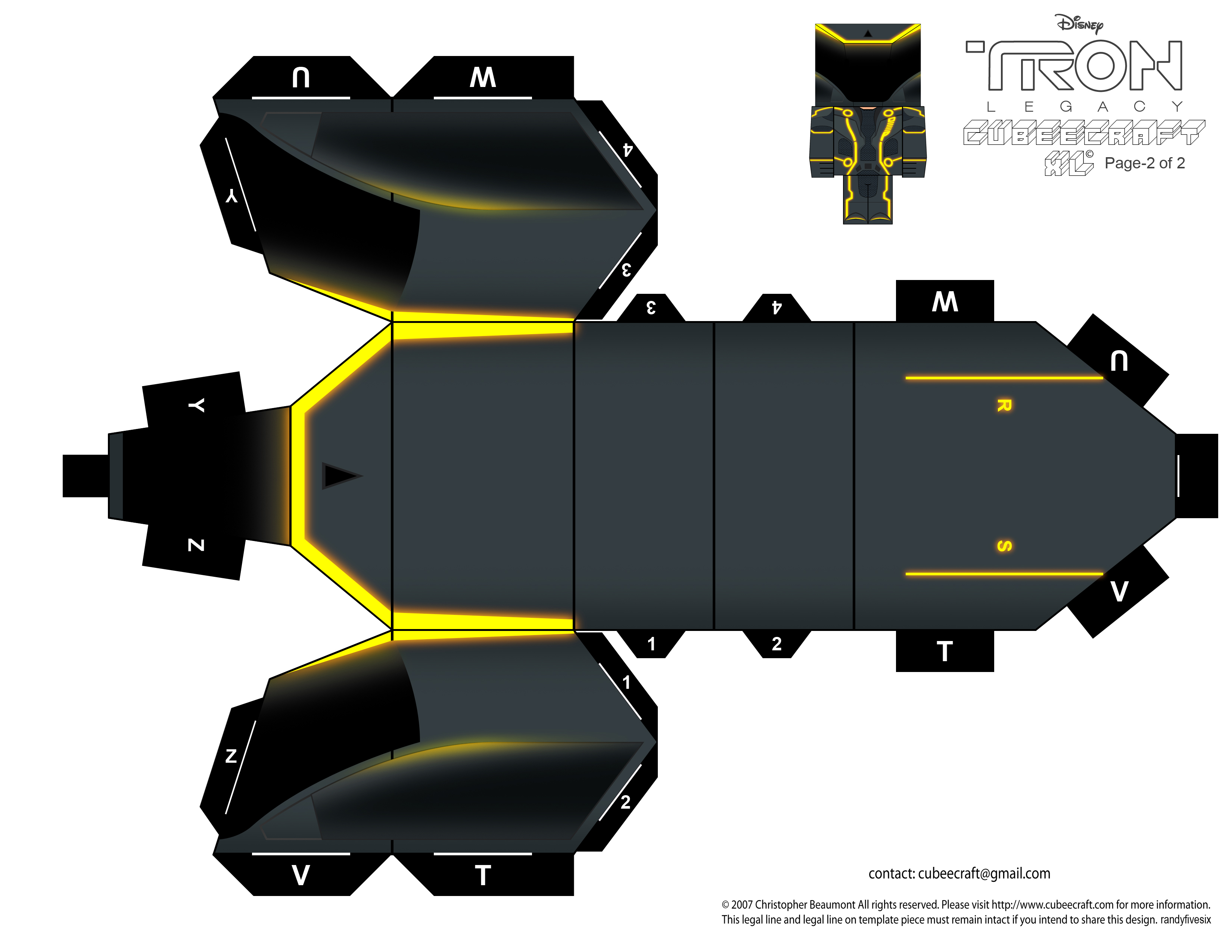 TRON CLU cubeecraft XL pt2 by randyfivesix