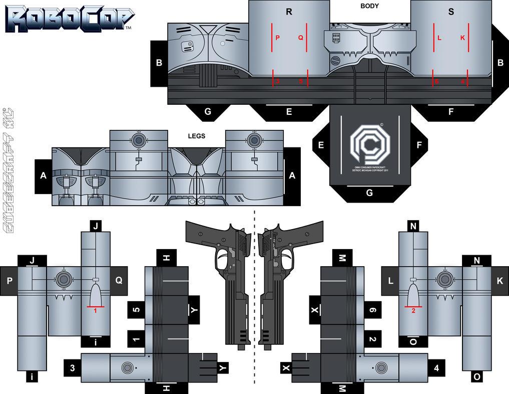 ROBOCOP Cubeecraft XL pt-1 by randyfivesix