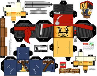 LEGO cubeecraft Jack Sparrow by randyfivesix