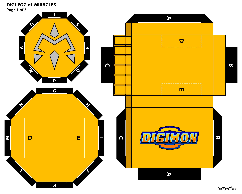 Digimon Digivice Papercraft Digimon Papercraft Digivice