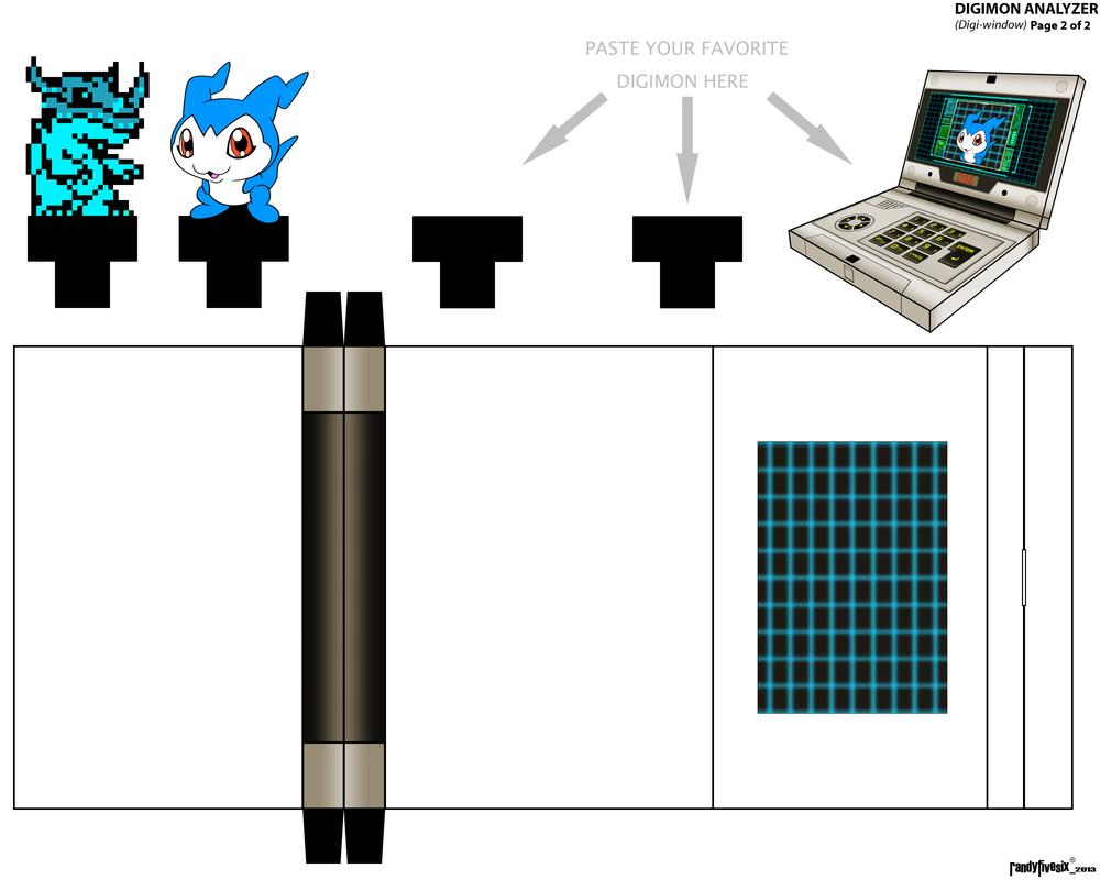 Digi-Window Page 2 of 2 papercraft by randyfivesix