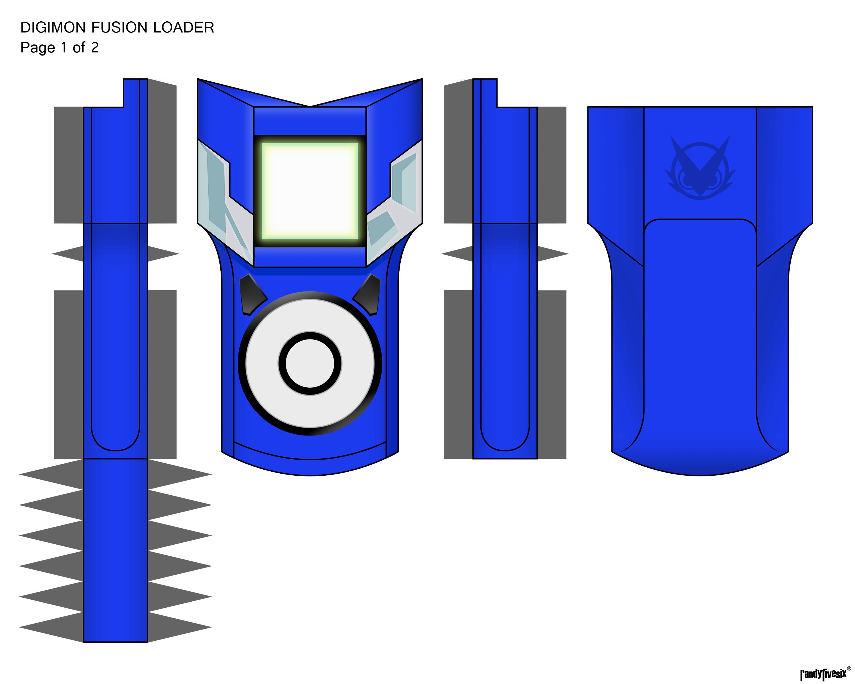 Digimon Digivice Papercraft Digimon Digivice Papercraft
