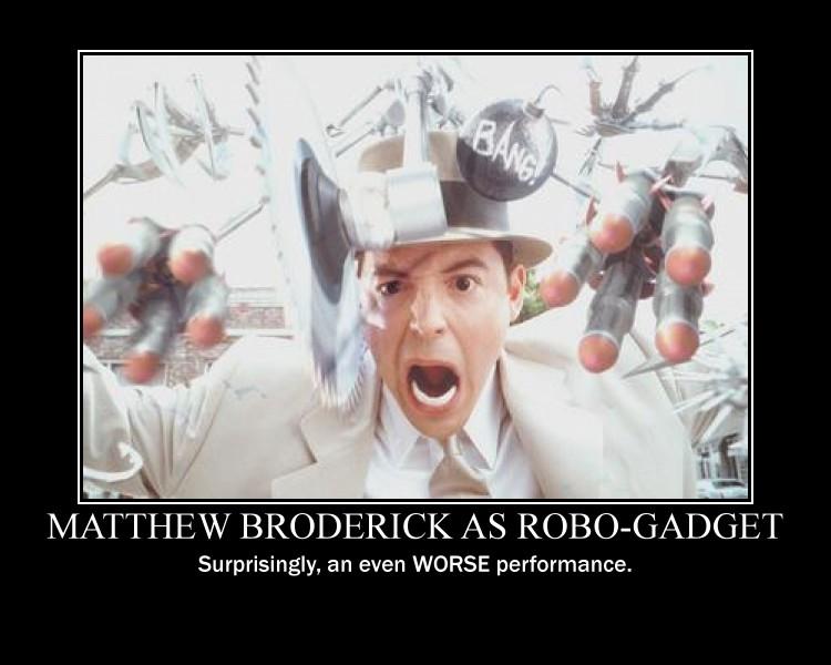 Matthew Broderick in 'Inspector Gadget'