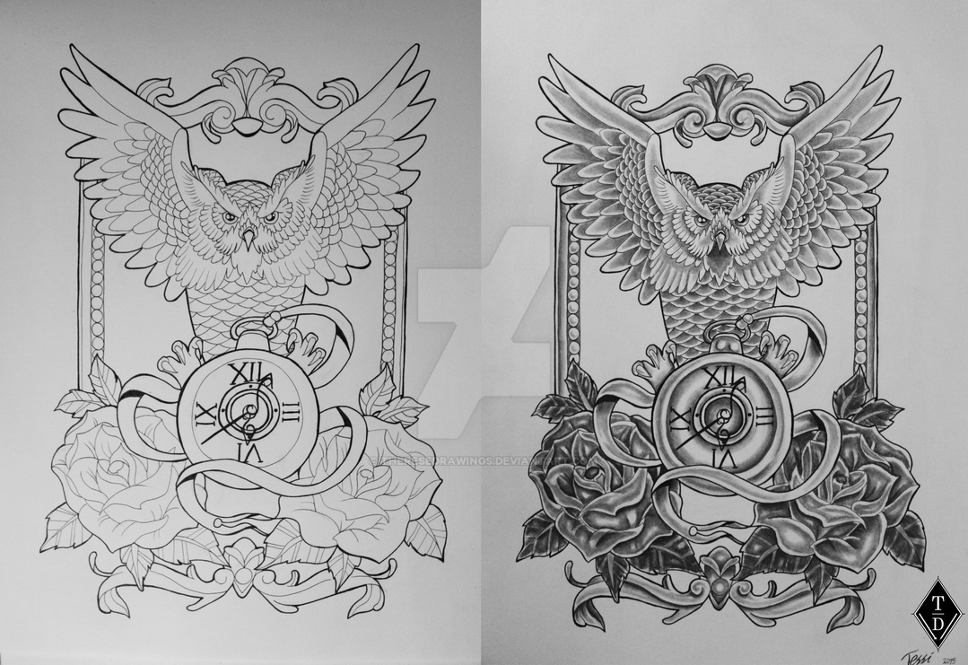 Owl Tattoo Design By Theresedrawings On Deviantart