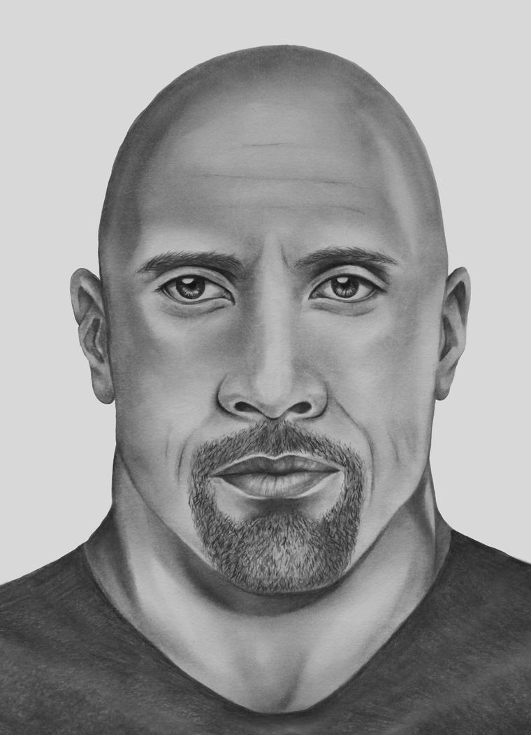 Dwayne Johnson by ThereseDrawings