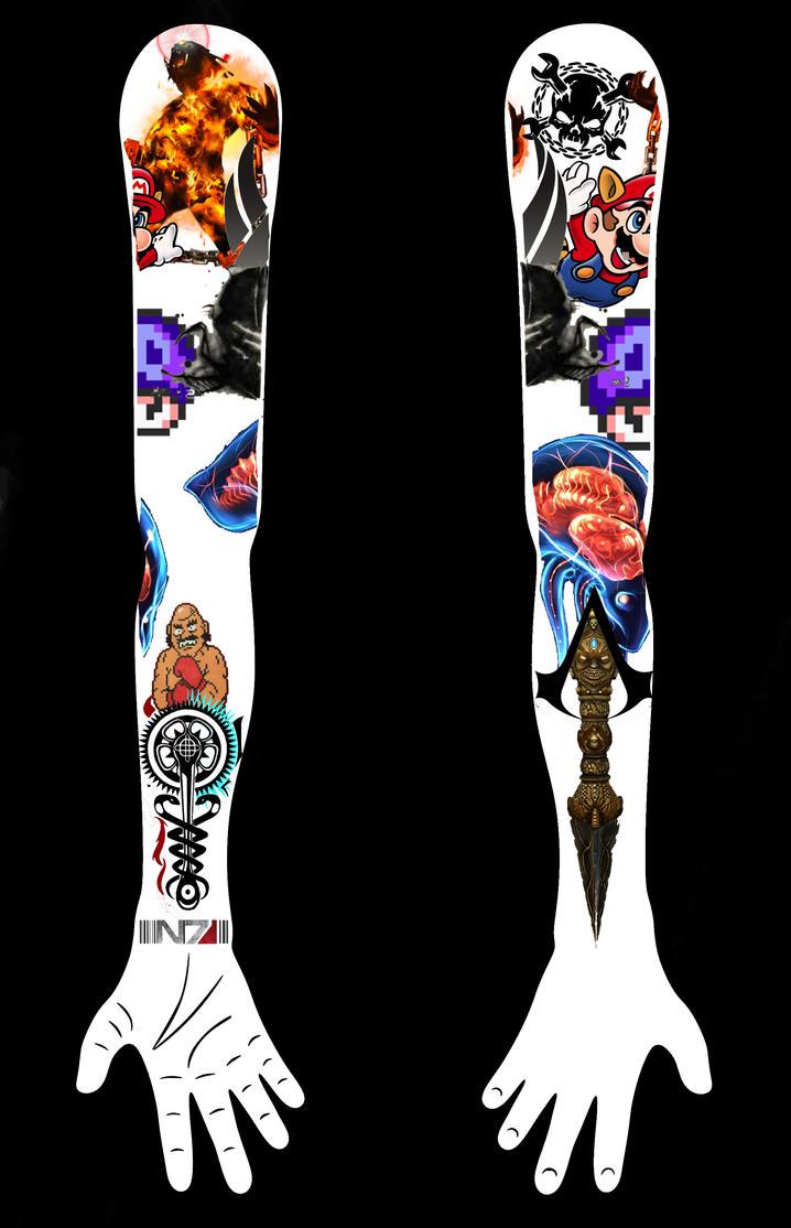 Video Game Tattoo Sleeve by hahajokesonyou on DeviantArt