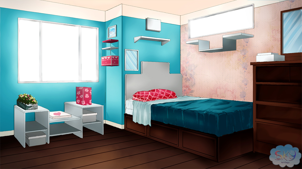 Visual Novel Bedroom Background 1 By Sky Morishita On