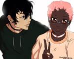Black and Pink Oc Illustrastions