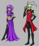 Tallest Zim and Queen Gaz by Cicilicious