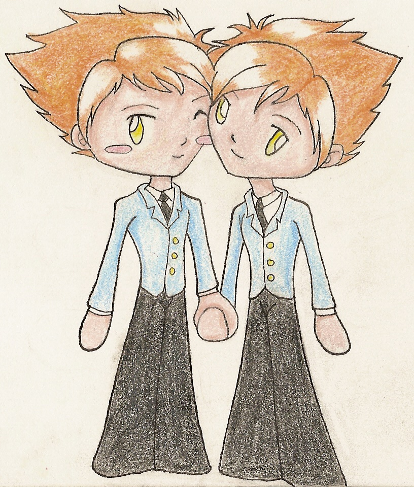 Chibis Hikaru and Kaoru by RighteousRose on deviantART  Chibis Hikaru a...