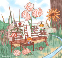 hope's flower shop by keiyaumi