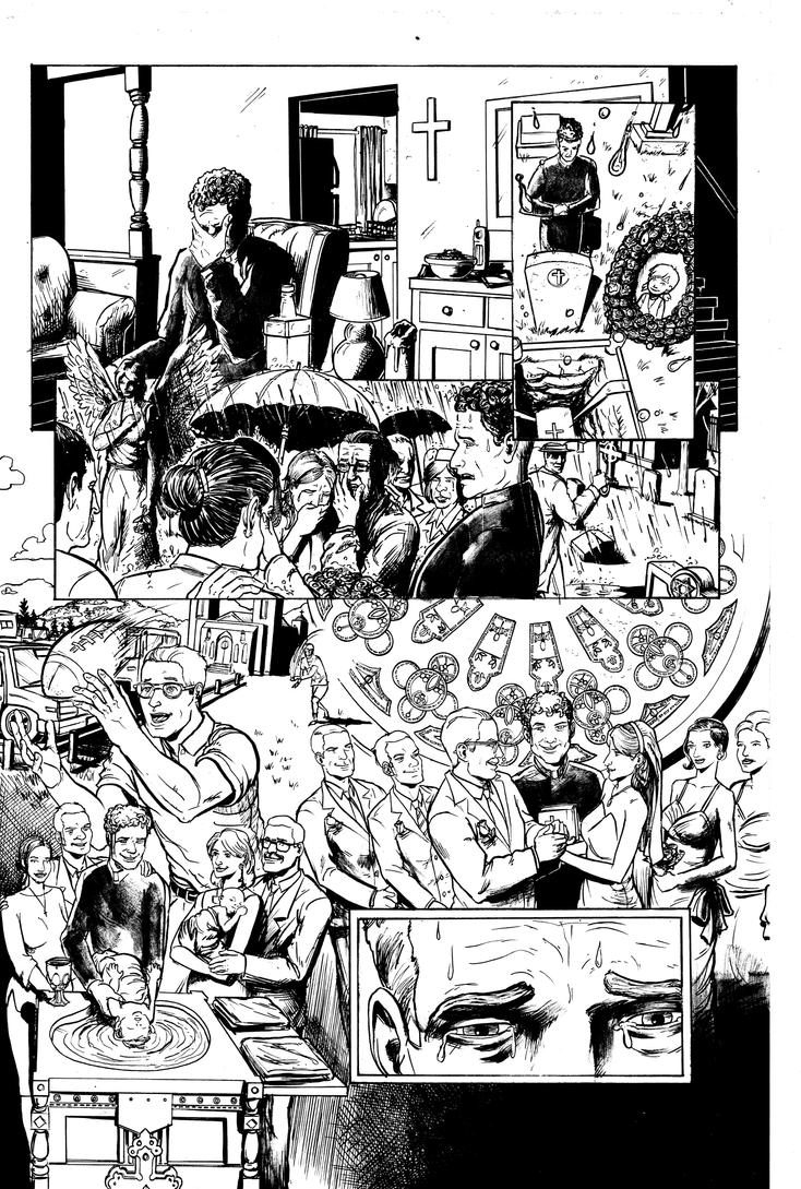 The Few #2 Page 1 Inks by Nick-OG
