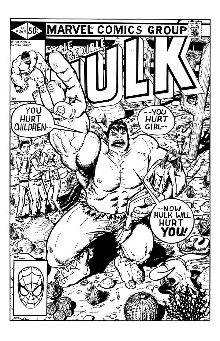 The Incredible Hulk #264 Cover Redux by Nick-OG