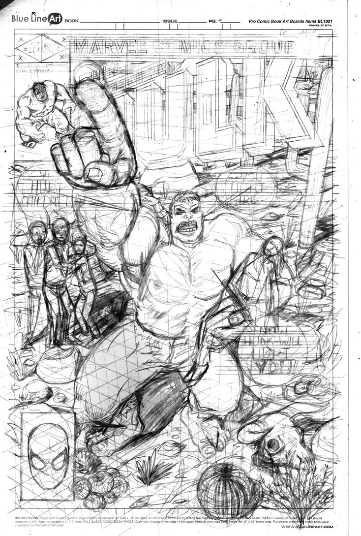 The Incredible Hulk #264 Cover Pencils by Nick-OG