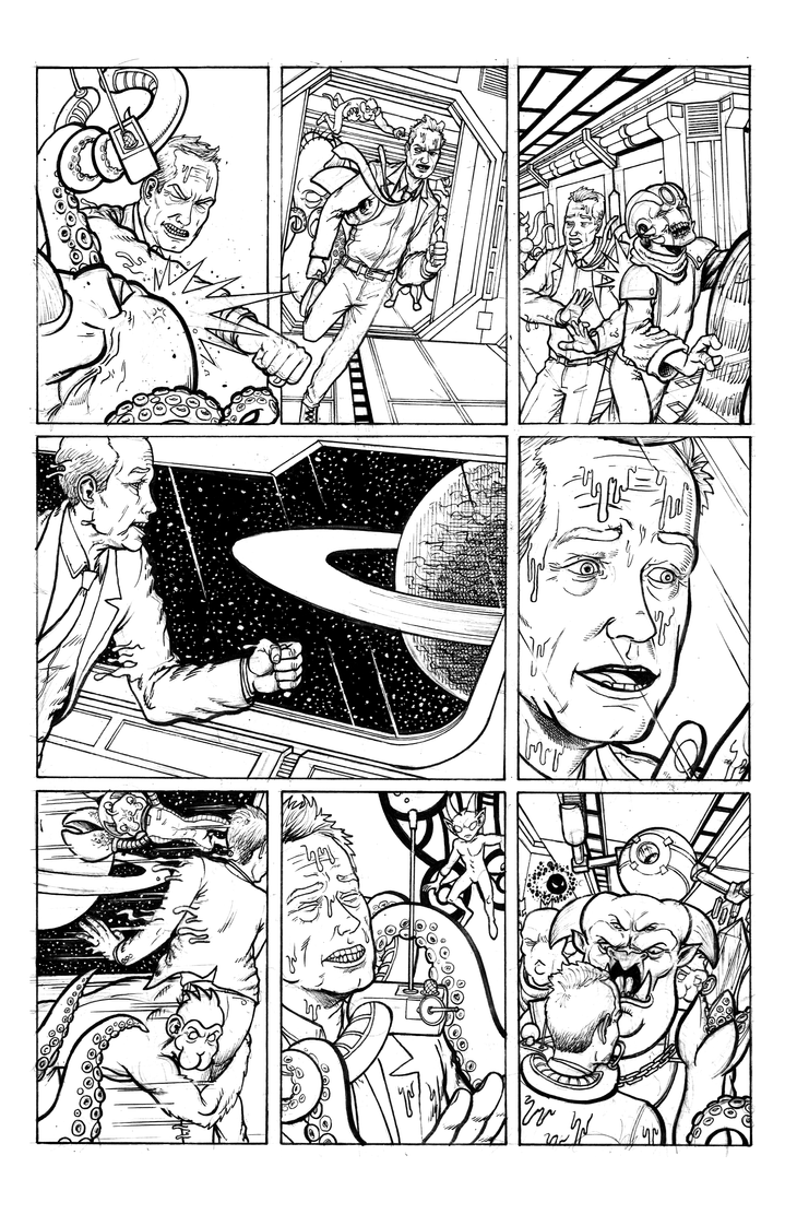 The Big Pitch Page 3 inks by Nick-OG