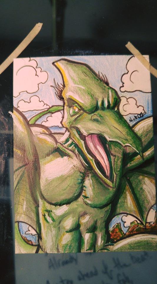Sauron Sketchcard by Nick-OG