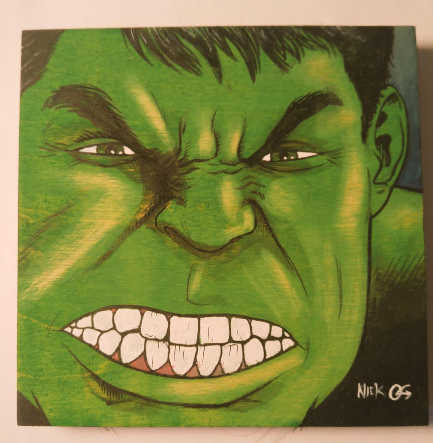 Hulk Wood Panel by Nick-OG