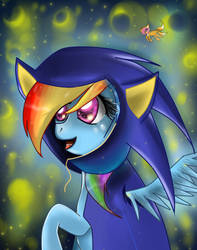 Rainbow Dash as Sonic the hedgehog. by MonotoneInkwell