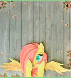 My Little Selfies Series - Fluttershy. by MonotoneInkwell