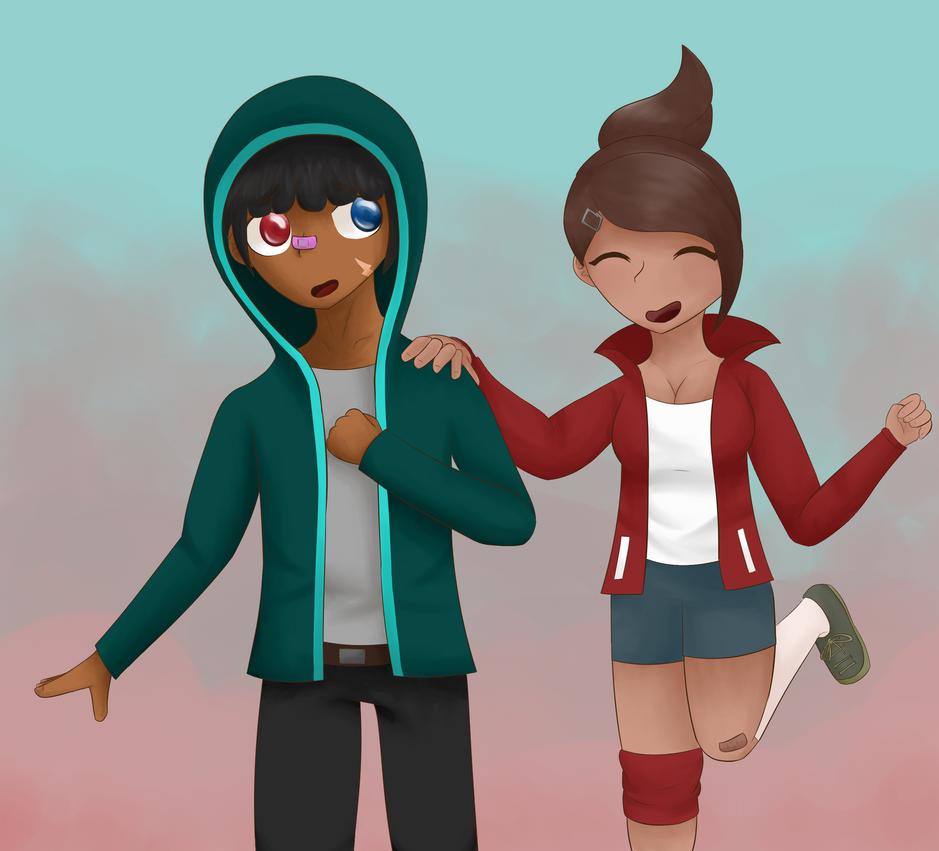 [AT] Kai and Asahina for IAuraI by EnderDurant