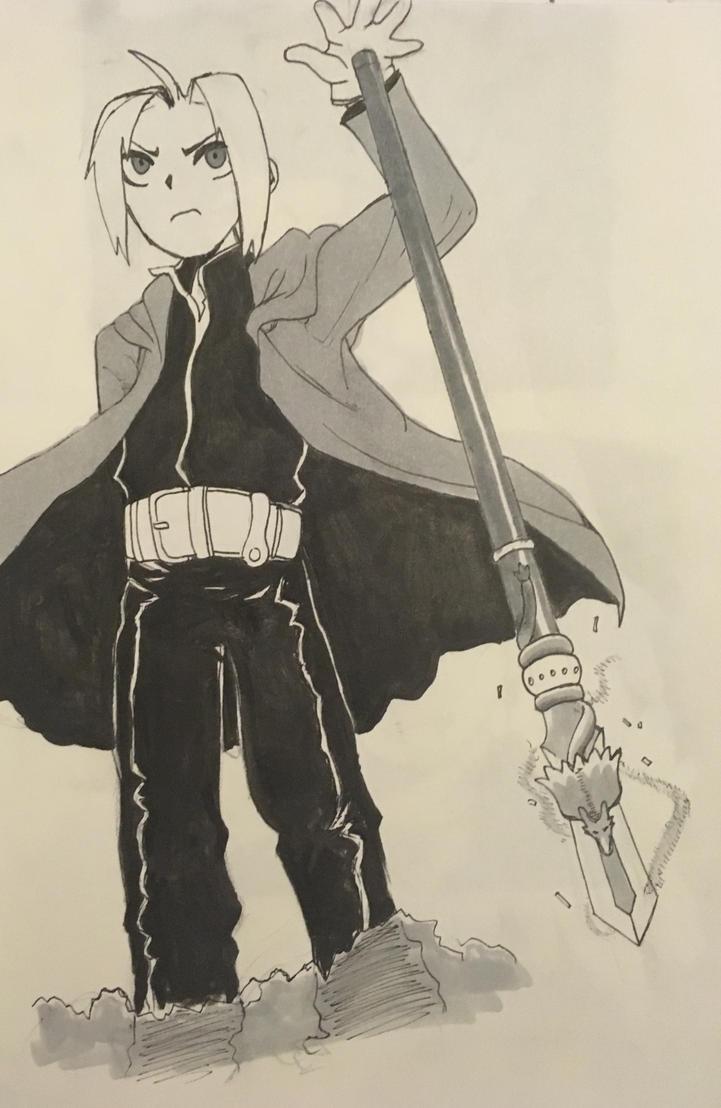 The Fullmetal Alchemist, Edward Elric! (redraw) by EnderDurant