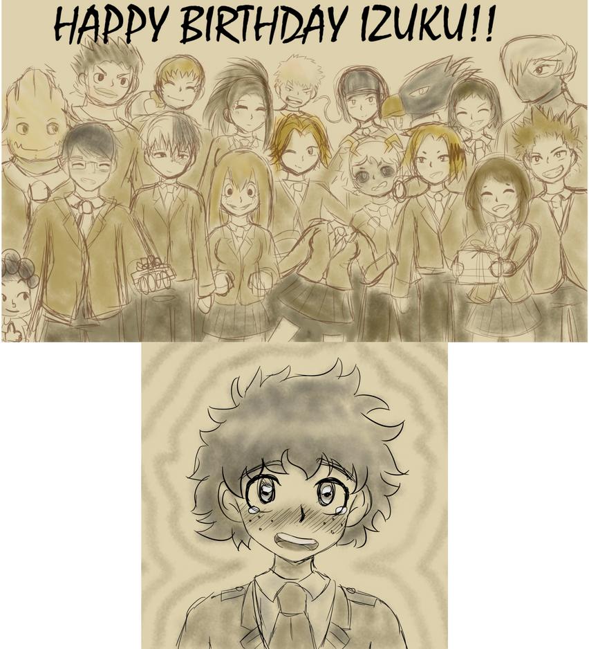 Happy (belated) Birthday to Izuku Midoriya! by EnderDurant
