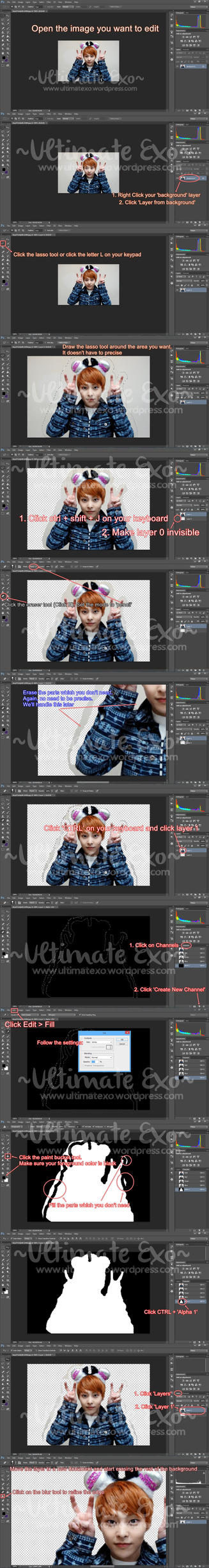 Photoshop Newbie: How to erase backgrounds by UltimateExo