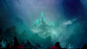 Under water Alien City by JoshuaCadogan