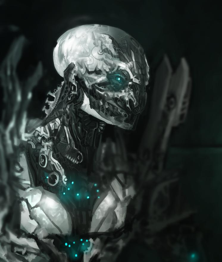 Cyborg close up by JoshuaCadogan