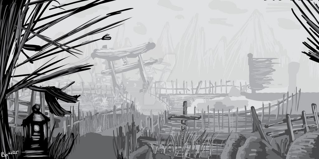 Village in ruins(wip) by Janix-Tiramisu