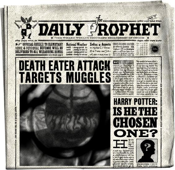 DAILY PROPHET FRONT PAGE by Tim-LILWIC-Alabastor on DeviantArt