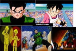 Gohan and Videl collage