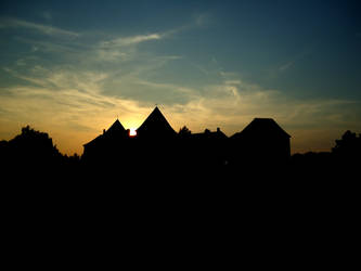 Castle at Dusk by shokisan