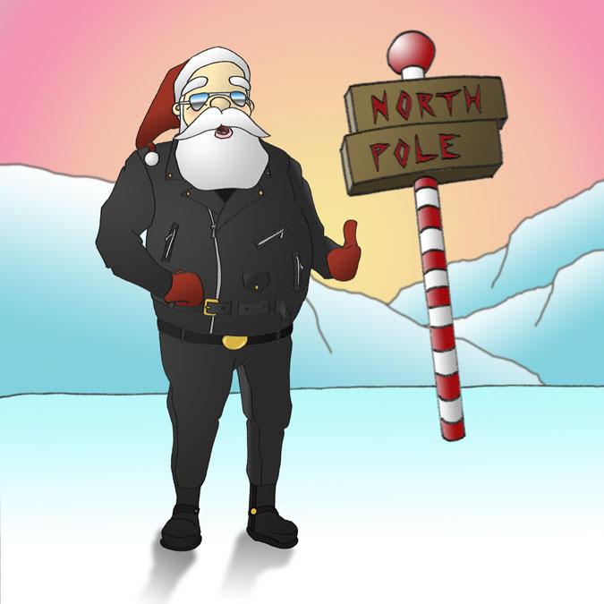 Santa is the Fonz by OBEY-OBEY