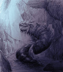 Dragon in a cave 2