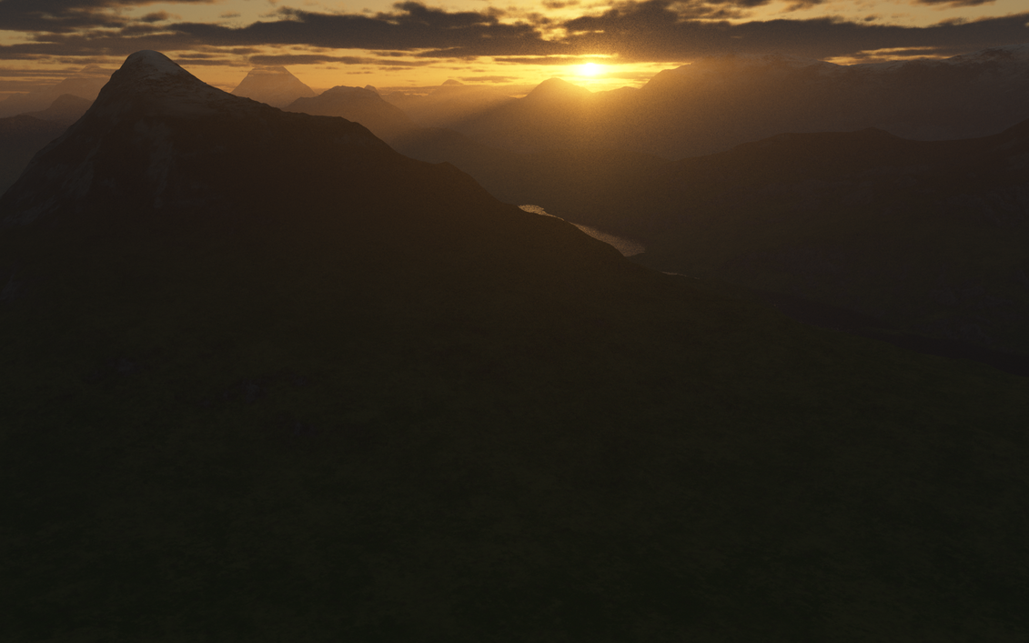 Sunrise of the Clanteer Mountains by kon16ov