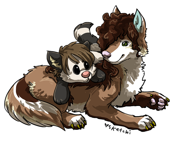 lamb+prima for wolfah! by sketchi
