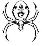 Tribal Drow Spider Tattoo