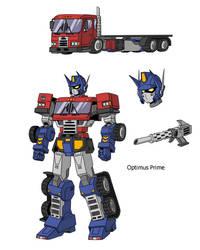 Optimus Prime redesigned.