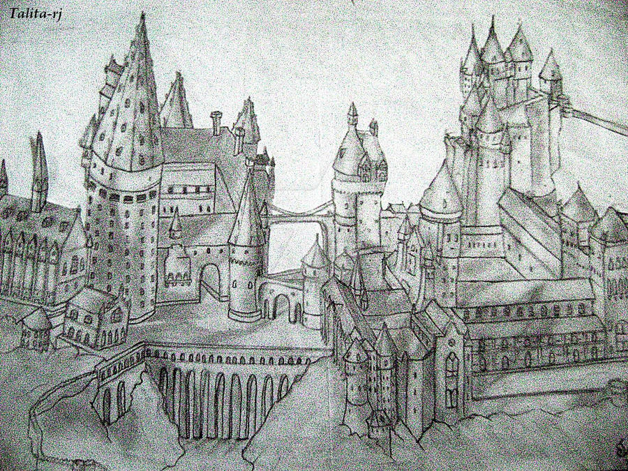 harry potter castle coloring pages - photo#22