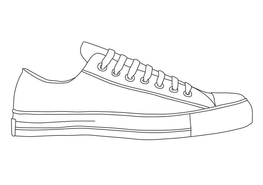 Vans Shoe Drawings Sketch Coloring