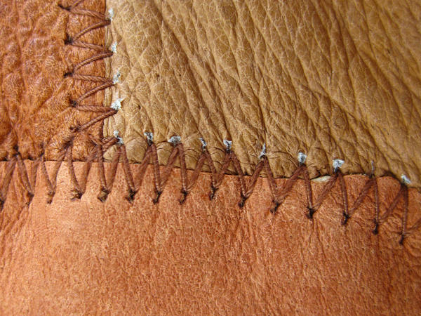 leather stitching 2 by ElleStock